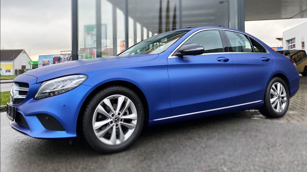 Mercedes-CKlasse-Vollfolierung