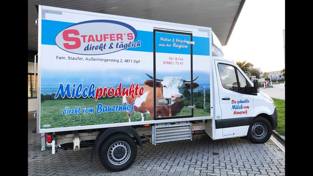 Stauffer-Milch-fahrzeuge
